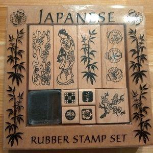 Rubber Stamp Set Japanese theme